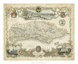 Map of Sussex Giclée-tryk