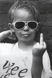 Hi Mum (Middle Finger) Affiche