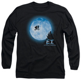 Long Sleeve: E.T. The Extra Terrestrial - E.T. Moon Scene T-Shirt