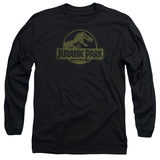 Long Sleeve: Jurassic Park - Distressed Logo T-Shirt