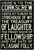 Here's To The Corkscrew Prints