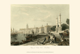 Quay of Louis XVIII, Bordeaux Posters par T. Allom