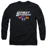 Long Sleeve: 2 Fast 2 Furious - 2 Fast Logo T-Shirt