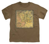 Youth: Lord of the Rings - Middle Earth Map T-Shirt