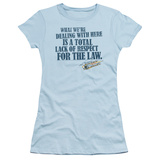 Juniors: Smokey and the Bandit - Lack of Respect Shirt