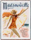 Mademoiselle June 1936 - Throw Blanket Throw Blanket by Helen Jameson Hall