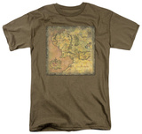 Lord of the Rings - Middle Earth Map T-shirts