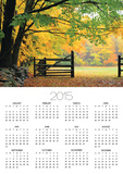 Fall Foliage Surrounds an Open Gate Posters by Kathleen Brown