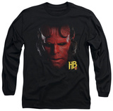 Long Sleeve: Hellboy II - Hellboy Head T-Shirt