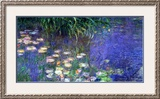 Waterlilies (Les Nympheas), Study of the Morning Water Framed Giclee Print by Claude Monet