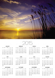 Sunset on the Barnegat Bay and Sea Oats Posters by Bob Krist