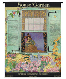 House & Garden May 1918 - Wall Tapestry Tapiz por Helen Dryden