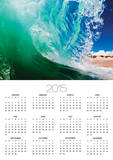 Shorebreak wave Posters by Mark A. Johnson