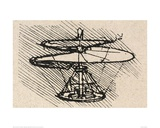 Propellor Giclee Print by  Leonardo da Vinci