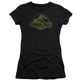 Juniors: Jurassic Park - Distressed Logo Shirt
