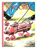The New Yorker Cover - April 9, 2001 Regular Giclee Print by Bob Zoell (HA)