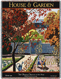 House & Garden Oct 1926 - Throw Blanket Throw Blanket by Pierre Brissaud
