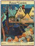 House & Garden June 1917 - Throw Blanket Throw Blanket by Porter Woodruff