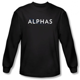 Long Sleeve: Alphas - Alphas Title T-Shirt