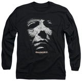Long Sleeve: Halloween II - Masked Kitty T-shirts