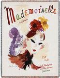 Mademoiselle September 1936 - Throw Blanket Throw Blanket by Helen Jameson Hall