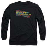 Long Sleeve: Back to the Future - BTTF 2 Logo T-Shirt
