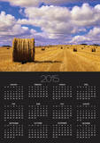 Bales and Clouds Near Sherbrooke, Saskatchewan, Canada. Posters by Mike Grandmaison