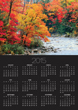 Stream in Autumn Woods Poster by Jack Hollingsworth