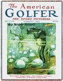 American Golfer June 1924 - Throw Blanket Throw Blanket by James Montgomery Flagg