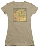 Juniors: Lord of the Rings - Middle Earth Map T-shirts