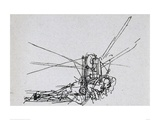 Flying Machine 2 Giclee Print by  Leonardo da Vinci