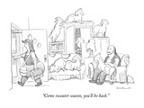 """Come sweater season, you'll be back."" - New Yorker Cartoon Premium Giclee Print by David Borchart"
