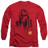 Long Sleeve: Hellboy II - Splatter Gun T-Shirt