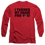 Long Sleeve: The Voice - Turned My Chair T-Shirt