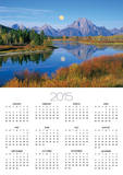 Full Moon Rising Over the Oxbow Bend Prints by Buddy Mays