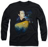 Long Sleeve: Star Trek - Data 25th T-Shirt