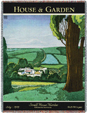 House & Garden July 1929 - Throw Blanket Throw Blanket by Harry Richardson