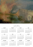 The Burning of the Houses of Parliament, 16th October 1834, circa 1835 Prints by William Turner