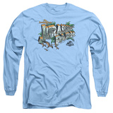 Long Sleeve: Jurassic Park - Greetings From JP T-Shirt
