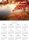 Sunrise Through Autumn Leaves Poster by Joseph Sohm