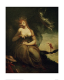 Perdita with the Furies and Ariel Giclee Print by Henry Fuseli