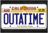 OUTATIME License Plate Movie Poster Photographie