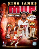 LeBron James 2012 NBA MVP Portrait Plus Foto