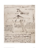 Flying Machine Drawing Lámina giclée por  Leonardo da Vinci