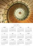 Spiral Staircase at Eckmuhl Lighthouse in Brittany Poster by Owen Franken