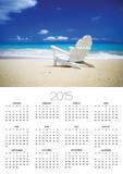 Beach Chair on Empty Beach Fotografia por Randy Faris
