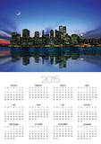 Manhattan Skyline and Reflection Posters by Bill Ross