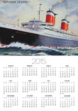 Ss United States Maiden Voyage in 1952 Prints