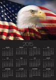 Bald Eagle Head and American Flag Print by Joseph Sohm