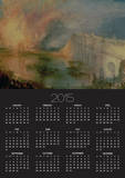 The Burning of the Houses of Parliament, 16th October 1834, circa 1835 Posters by William Turner